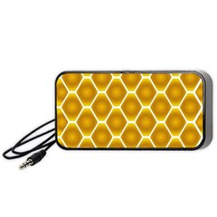 Snake Abstract Background Pattern Portable Speaker (black) by Simbadda