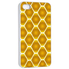 Snake Abstract Background Pattern Apple Iphone 4/4s Seamless Case (white) by Simbadda