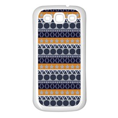 Seamless Abstract Elegant Background Pattern Samsung Galaxy S3 Back Case (white) by Simbadda