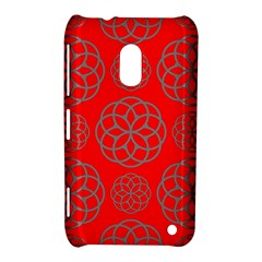 Geometric Circles Seamless Pattern On Red Background Nokia Lumia 620 by Simbadda