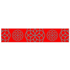 Geometric Circles Seamless Pattern On Red Background Flano Scarf (small) by Simbadda