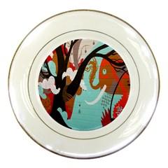 Colorful Graffiti In Amsterdam Porcelain Plates by Simbadda