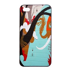Colorful Graffiti In Amsterdam Apple Iphone 4/4s Seamless Case (black) by Simbadda