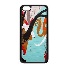 Colorful Graffiti In Amsterdam Apple Iphone 5c Seamless Case (black) by Simbadda