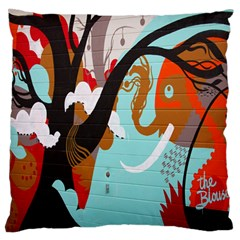 Colorful Graffiti In Amsterdam Standard Flano Cushion Case (two Sides) by Simbadda