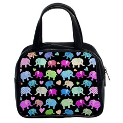 Cute Elephants  Classic Handbags (2 Sides) by Valentinaart