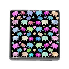 Cute Elephants  Memory Card Reader (square) by Valentinaart