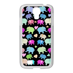 Cute Elephants  Samsung Galaxy S4 I9500/ I9505 Case (white) by Valentinaart