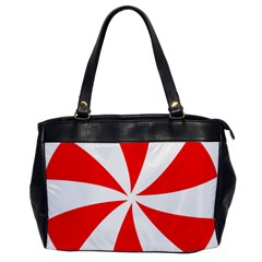 Candy Red White Peppermint Pinwheel Red White Office Handbags by Alisyart