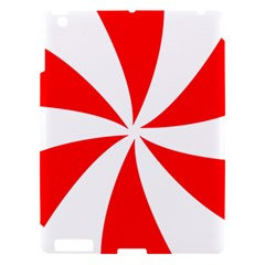 Candy Red White Peppermint Pinwheel Red White Apple Ipad 3/4 Hardshell Case by Alisyart