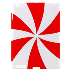 Candy Red White Peppermint Pinwheel Red White Apple Ipad 3/4 Hardshell Case (compatible With Smart Cover) by Alisyart