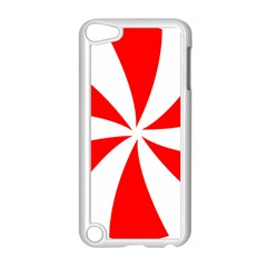 Candy Red White Peppermint Pinwheel Red White Apple Ipod Touch 5 Case (white) by Alisyart