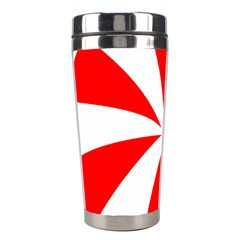 Candy Red White Peppermint Pinwheel Red White Stainless Steel Travel Tumblers by Alisyart