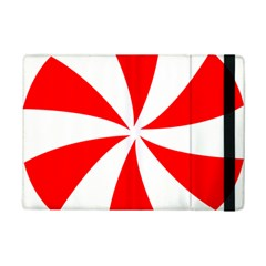 Candy Red White Peppermint Pinwheel Red White Ipad Mini 2 Flip Cases by Alisyart