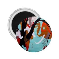 Colorful Graffiti In Amsterdam 2 25  Magnets by Simbadda