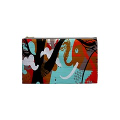 Colorful Graffiti In Amsterdam Cosmetic Bag (small)  by Simbadda