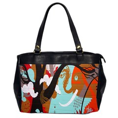 Colorful Graffiti In Amsterdam Office Handbags (2 Sides)  by Simbadda