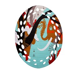 Colorful Graffiti In Amsterdam Oval Filigree Ornament (two Sides) by Simbadda