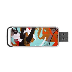 Colorful Graffiti In Amsterdam Portable Usb Flash (two Sides) by Simbadda