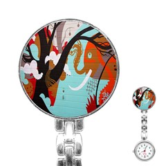 Colorful Graffiti In Amsterdam Stainless Steel Nurses Watch by Simbadda