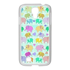 Cute Elephants  Samsung Galaxy S4 I9500/ I9505 Case (white) by Valentinaart