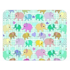 Cute Elephants  Double Sided Flano Blanket (large)  by Valentinaart