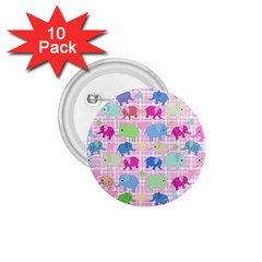 Cute Elephants  1 75  Buttons (10 Pack) by Valentinaart
