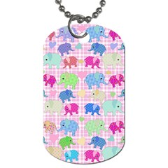 Cute Elephants  Dog Tag (two Sides) by Valentinaart