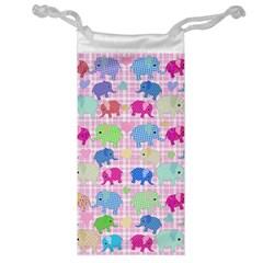 Cute Elephants  Jewelry Bag by Valentinaart