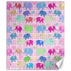 Cute Elephants  Canvas 8  X 10  by Valentinaart