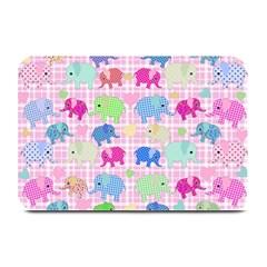 Cute Elephants  Plate Mats by Valentinaart