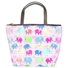 Cute Elephants  Bucket Bags by Valentinaart