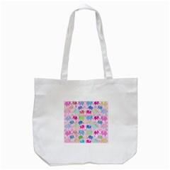 Cute Elephants  Tote Bag (white) by Valentinaart