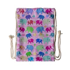 Cute Elephants  Drawstring Bag (small) by Valentinaart