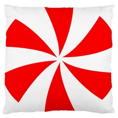 Candy Red White Peppermint Pinwheel Red White Large Cushion Case (two Sides) by Alisyart