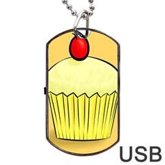 Cake Bread Pie Cerry Dog Tag Usb Flash (one Side) by Alisyart