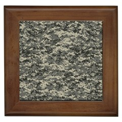 Us Army Digital Camouflage Pattern Framed Tiles by Simbadda