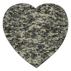 Us Army Digital Camouflage Pattern Jigsaw Puzzle (heart) by Simbadda