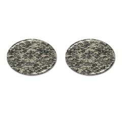 Us Army Digital Camouflage Pattern Cufflinks (oval) by Simbadda