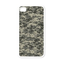 Us Army Digital Camouflage Pattern Apple Iphone 4 Case (white) by Simbadda