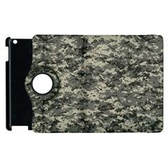 Us Army Digital Camouflage Pattern Apple Ipad 2 Flip 360 Case by Simbadda