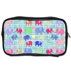 Cute Elephants  Toiletries Bags by Valentinaart