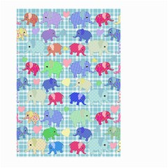Cute Elephants  Large Garden Flag (two Sides) by Valentinaart