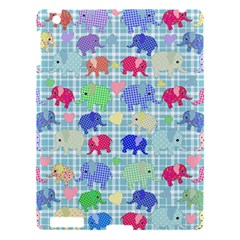 Cute Elephants  Apple Ipad 3/4 Hardshell Case by Valentinaart