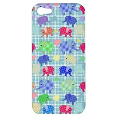 Cute Elephants  Apple Iphone 5 Hardshell Case by Valentinaart