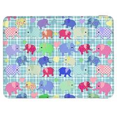 Cute Elephants  Samsung Galaxy Tab 7  P1000 Flip Case by Valentinaart