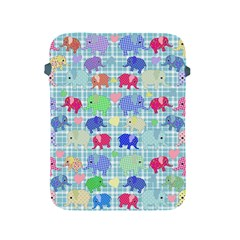 Cute Elephants  Apple Ipad 2/3/4 Protective Soft Cases by Valentinaart