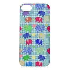 Cute Elephants  Apple Iphone 5s/ Se Hardshell Case by Valentinaart
