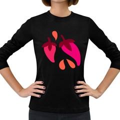 Chili Women s Long Sleeve Dark T Shirts by Alisyart