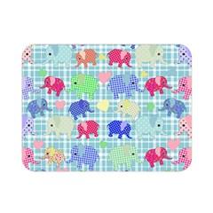 Cute Elephants  Double Sided Flano Blanket (mini)  by Valentinaart